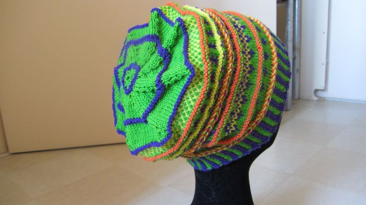 Fair Isle Design knitted hat Hoed gemutst by Carla van Doorn Designs