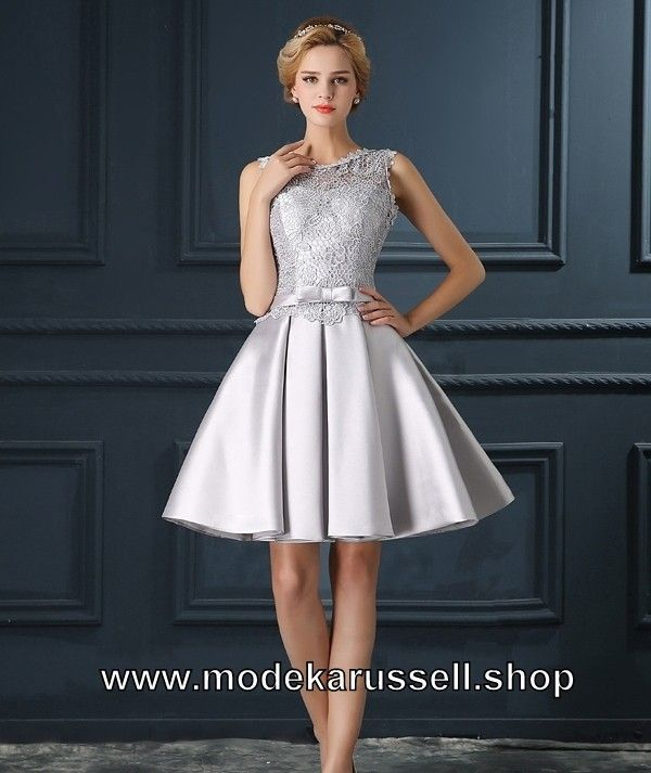 free shipping b76ed de978 A Linie Cocktailkleid 2019 Hiltraud in Silber ...