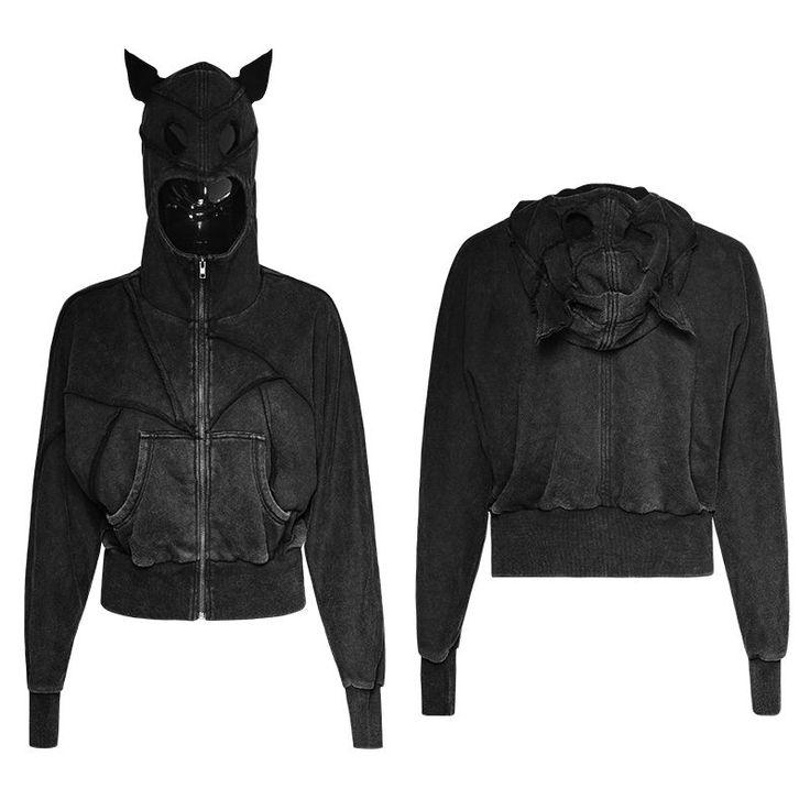 Aliexpress.com: Comprar Punk Rave 2017 rock gótico Atractivo de la nueva manera ocasional mujeres Oscuro Murciélagos Suelta chaqueta corta con capucha de fashion jacket fiable proveedores en Punk Rave Store