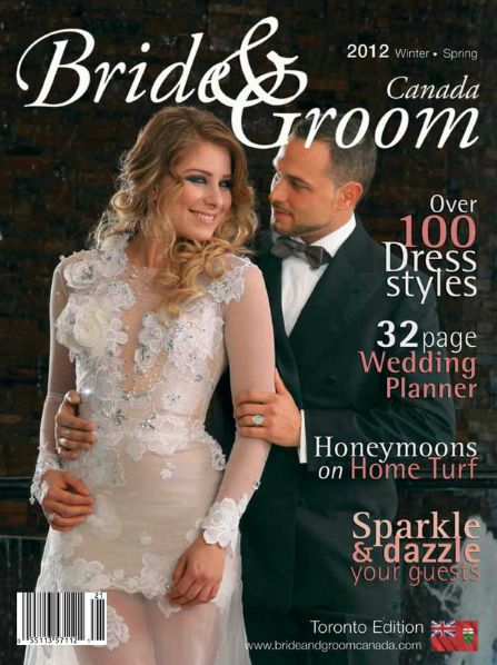 2012 Winter/Spring Bride & Groom Canada: Toronto Edition. Cover shoot #Hair #makeup by Picaso Studios. #bride #bridal #bridalhair #bridalmakeup #bridalstyle #wedding #weddinghair #weddingmakeup #weddingstyle