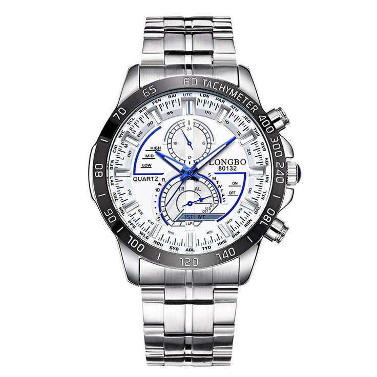 LONGBO 80132 Men Watch Stainless Steel Luminous Fashion Casual Quartz Wrist Watch at Banggood