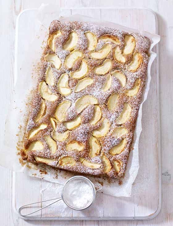Spiced Dorset apple traybake. A classic by Mary Berry.