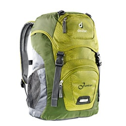 Deuter Junior backpack great for kids on the trail, at school, and around town. Big enough to hold binders and books, or jacket, hat, and snacks; the Junior offers a cool carrier for all of your child's adventures. $39.00