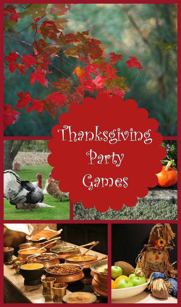 Thanksgiving party games for the whole family activities