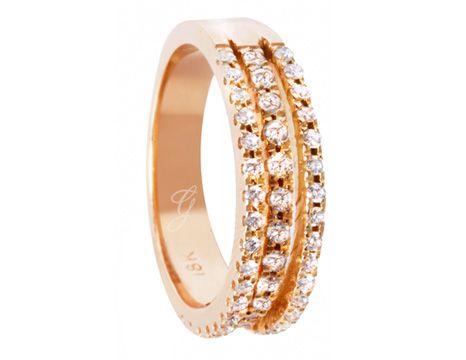 Anillo elaborado en Diamantes y Oro Rosado  #jewellery #ring #gold #luxury #diamonds #rosegold