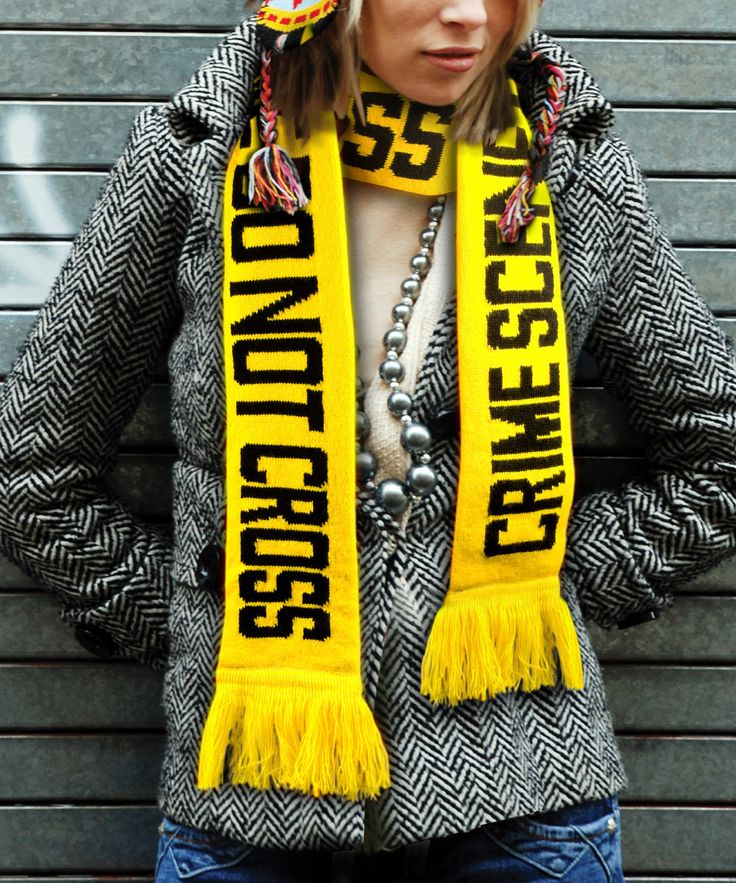 Look at this 'Crime Scene' Scarf on #zulily today!