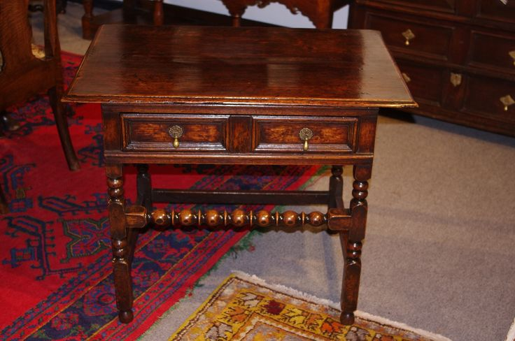 William and Mary oak side table. Circa 1690. www.robinwheatley-antiques.co.uk