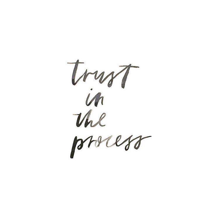 Trust.  Lettering by Renee Denaro  @sadiestreetdesignco