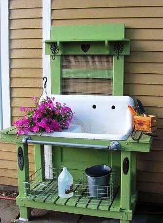 Vintage Gal Style: 15 Crafty Potting Bench Designs