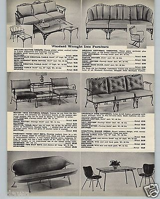 1959 PAPER AD 3 PG Woodard Wrought Iron