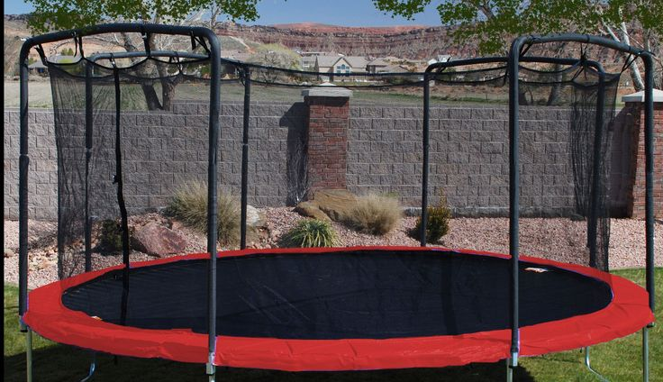 17' x 15' Oval Trampoline Spring Pad for 8 Pole Arched Enclosure Models