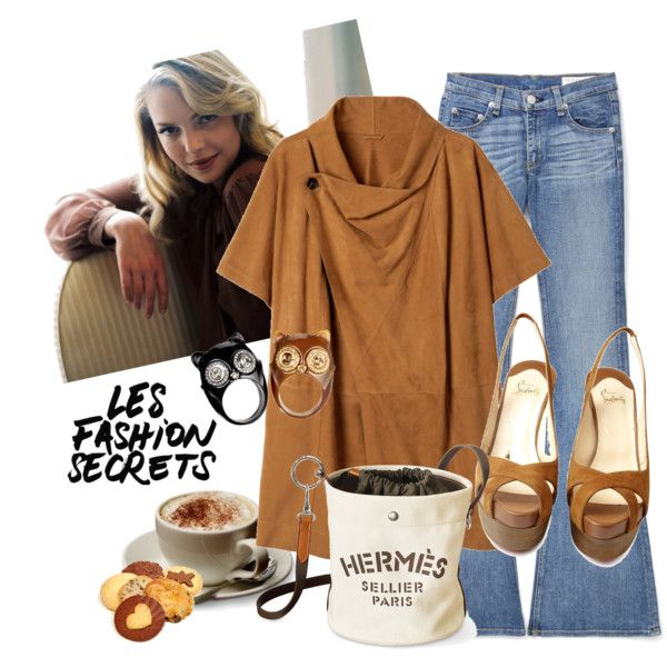 suede coat, flare jeans | Outfit Ideas | Pinterest Katherine Heigl