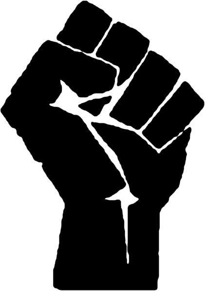 Le Logo du poing levé des Black Panther