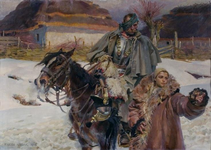 http://www.forvo.com/user/gorniak/  Wojciech Kossak, The Wounded (Poland)