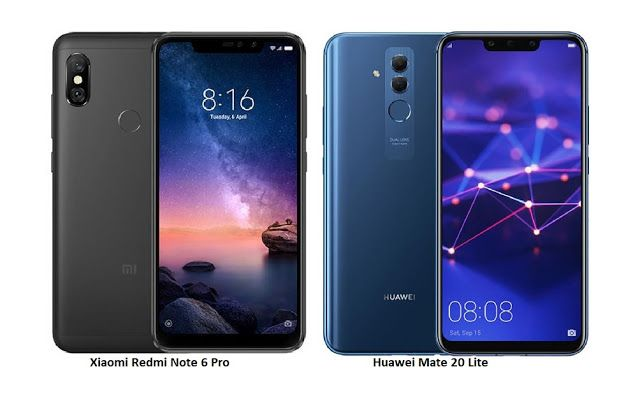Tspn1 Xiaomi Redmi Note 6 Pro Vs Huawei Mate 20 Lite Com Huawei Mate Xiaomi Huawei