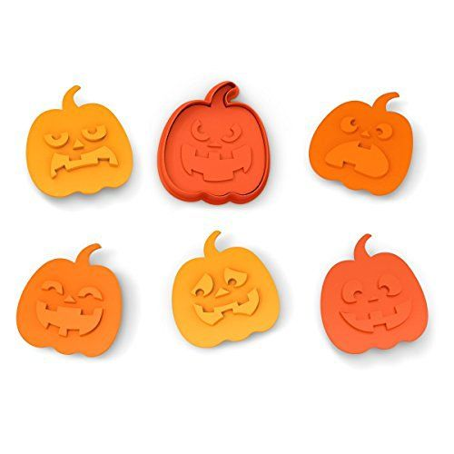 Fred & Friends SNACK-O-LANTERN Cookie Cutter/Stampers, Set of 6…