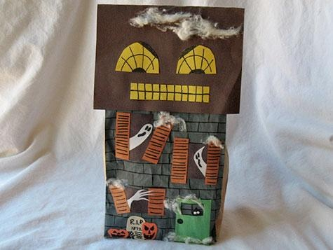 haunted house craft 17 best images about paper bag houses on 2161