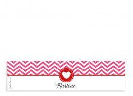 unsere Serviettenbanderolen Hamptons Heart in Pink/Rot