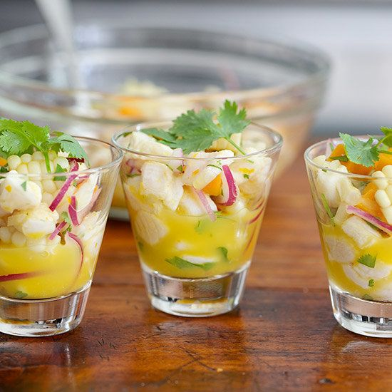 Ceviche with Corn and Sweet Potatoes | This Peruvian ceviche is vibrant and delicious in the heat.