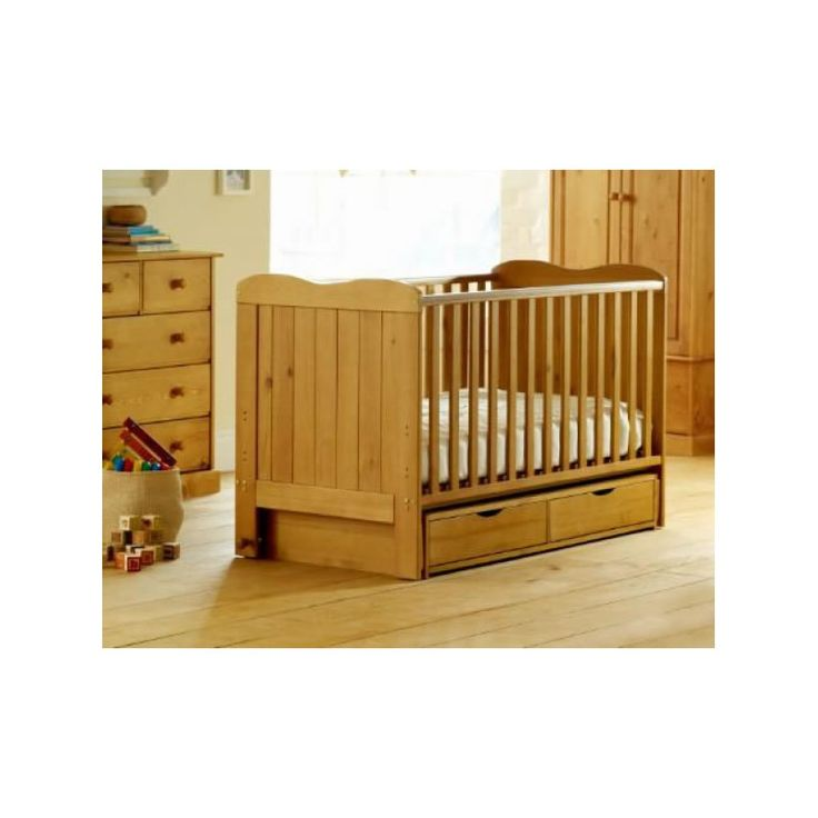 Saplings Glideaway Cot Bed WITH DRAWERS-Country Pine  Description: Representing a great new innovation in cot beds, the Glideaway from Saplings combines the versatility of a cot bed with the comforting swinging action of a glider cot – all in one! Finally you can have it all with a cot bed, from rocking your newborn baby gently to sleep as...   http://simplybaby.org.uk/saplings-glideaway-cot-bed-with-drawers-country-pine/