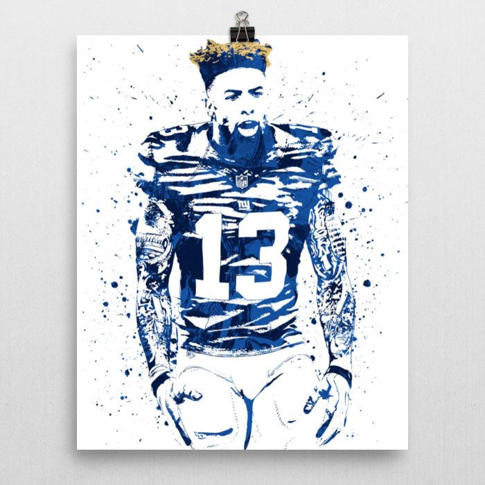 Odell Beckham Jr. poster. Beckham is an American football wide receiver for the New York Giants of the National Football League (NFL). He played college football at LSU, and was drafted by the Giants