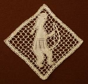 Lace from the Oneida Nation Museum. The collection has been moved to the Minnesota Historical Society.