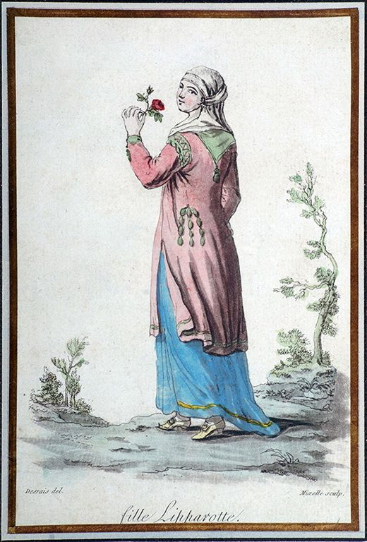 Claude Louis Desrais (1746-1816)-Γυναίκα της Πάρου με τοπική ενδυμασία