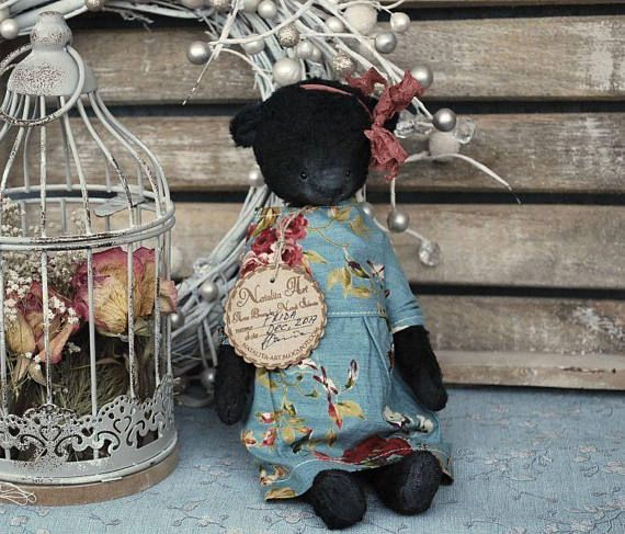 Frida : OOAK Vintage Style Sweet Artist Teddy Bear by Natali