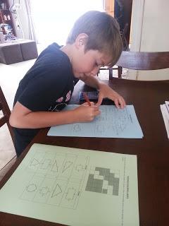 Level 1 - Perimeter Worksheet and Crossword! He LOVED it! :)