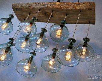 Neuf-lumière californienne lustre en bouteille par MoonshineLamp