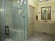 Contemporary Vanity Below Large Mirror | HGTV