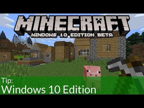 Minecraft Windows 10 Edition Beta - YouTube