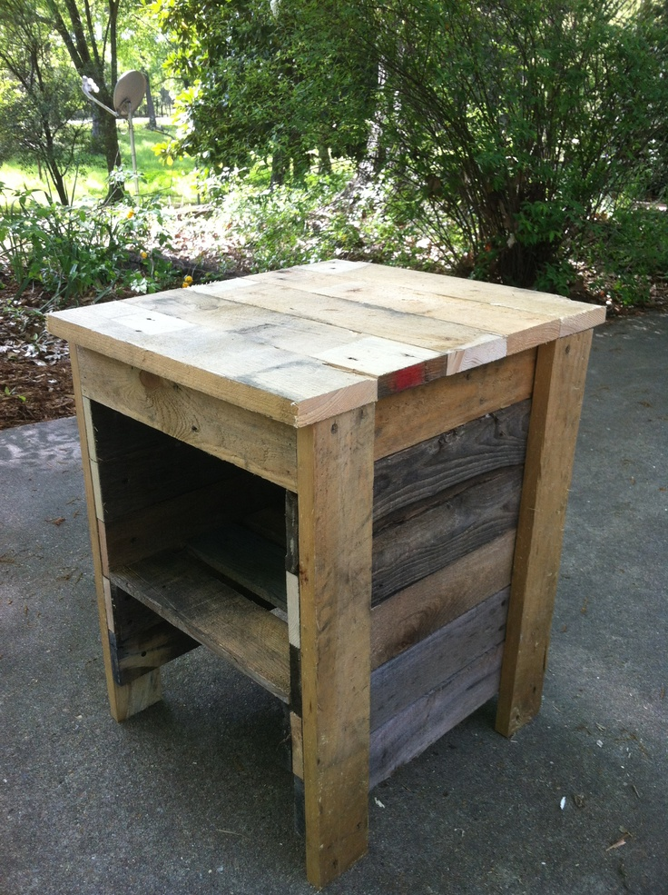Pallet night stand bedrooms pinterest pallet night for Deer stand made from pallets