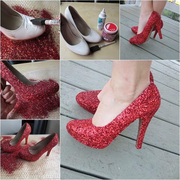 DIY – Zapatos Brillantes - http://blogmujer.org/diy-zapatos-brillantes/