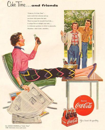 Coca-Cola Coke Time Eddie Fisher NBC 1954