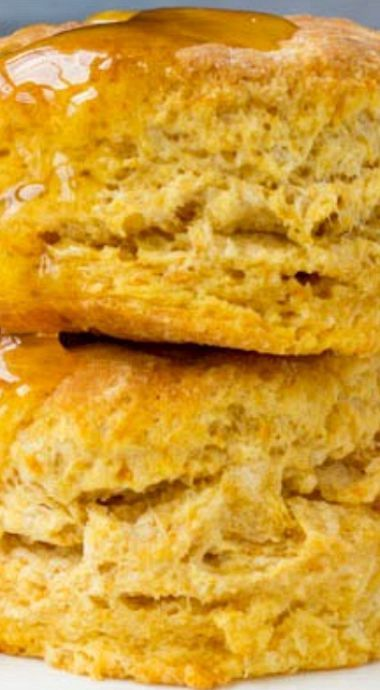 Old Fashioned Homemade Sweet Potato Biscuits with Honey Butter