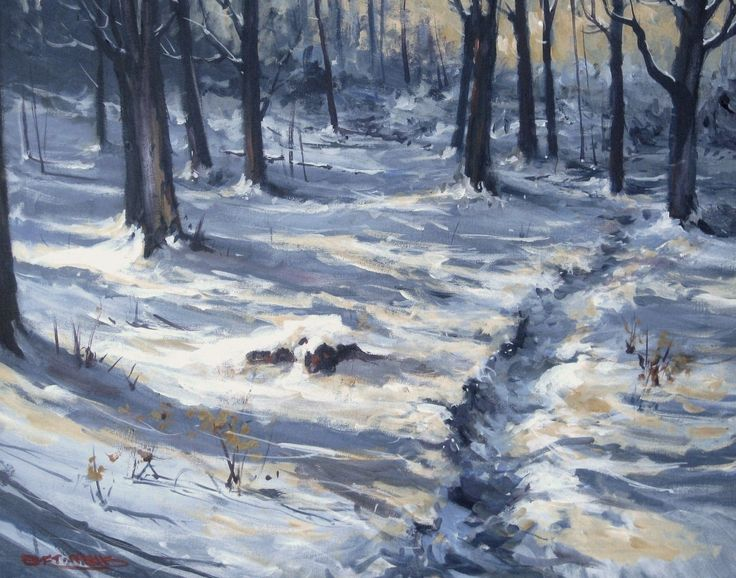 """Bruce Trail Light and Shadows 24"""" X 30"""""""