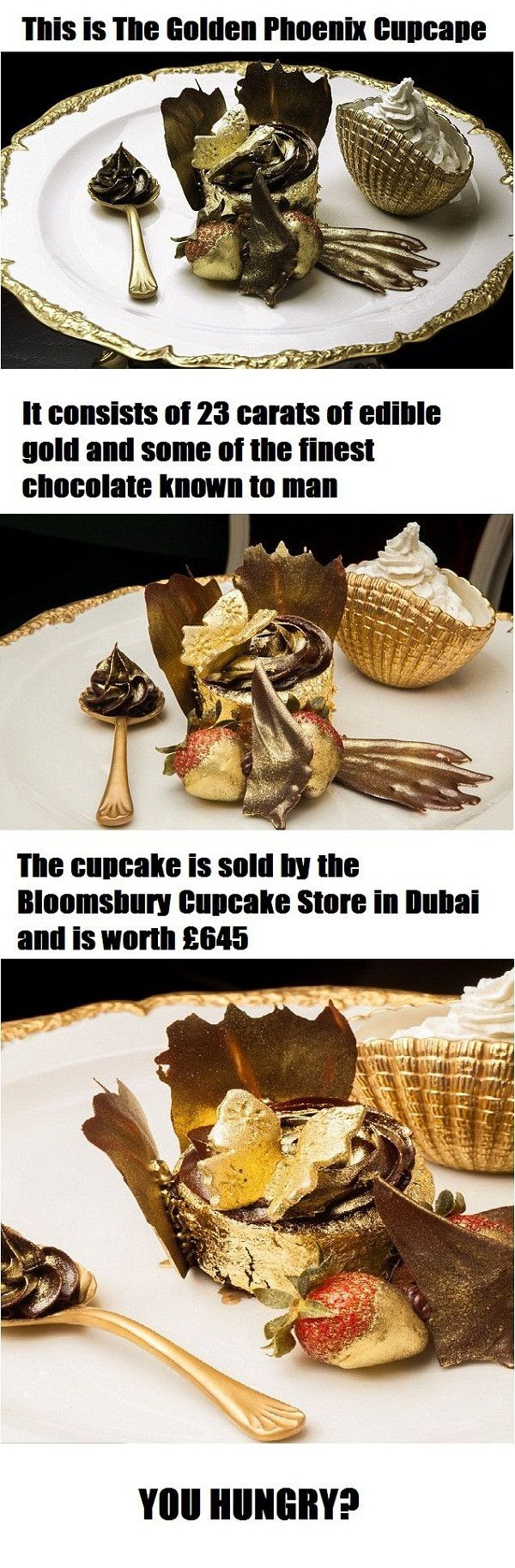 Golden Phonix Cupcake: World's Most Expensive Food- I will eat this one day!