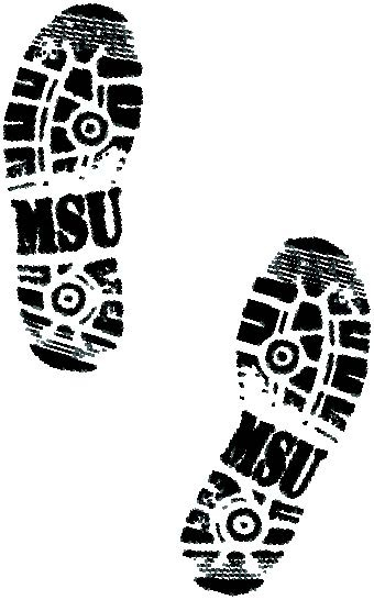 MSU Spartans - leave a footprint