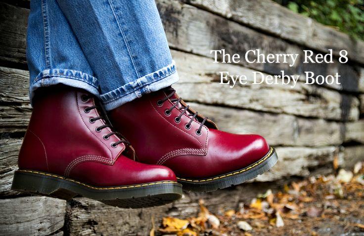 Cherry Red 8 eyelet