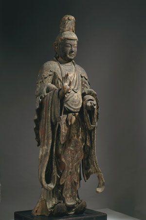 興福寺国宝館安置 木造梵天立像