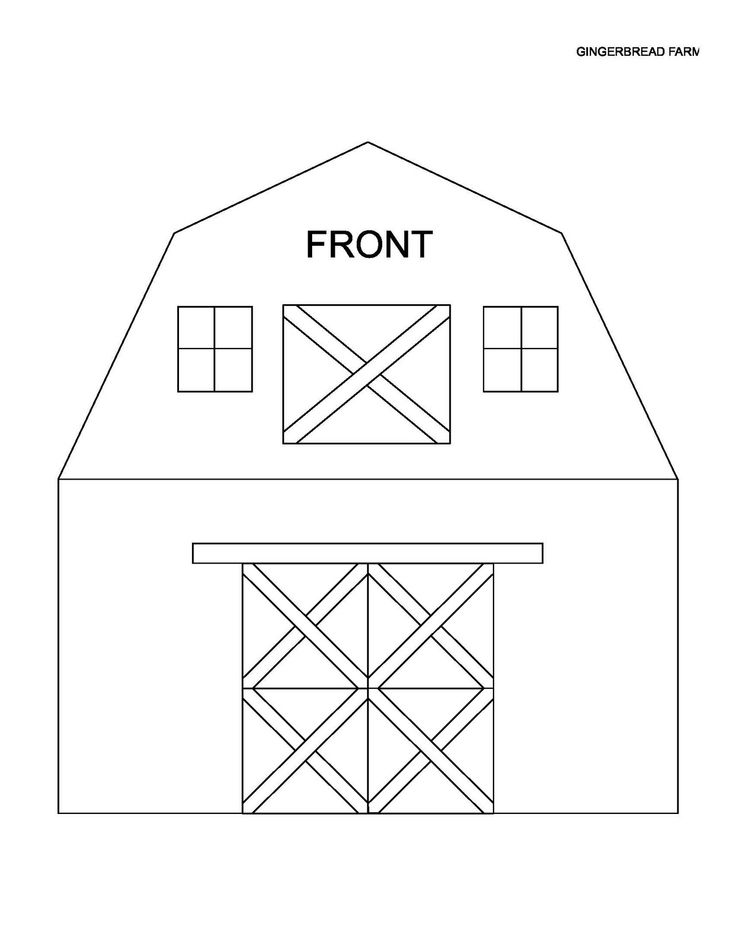 pattern for drawing a barn | If you'd like to join me in cookie farming, below are recipes and ...