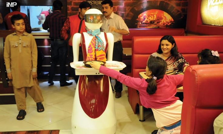 Multan an: a local pizza restaurant become famous after they introduced robots for serving orders.