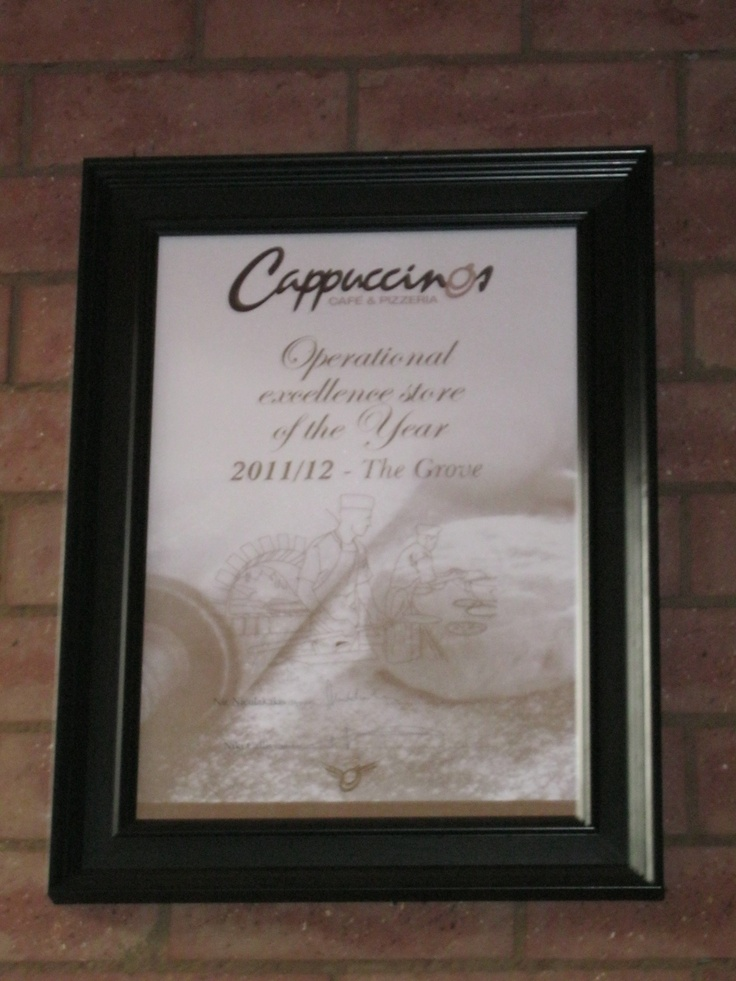 Once again - Congratulations Cappuccinos with your award: Operational Excellence Store of the Year :-) *so proud*