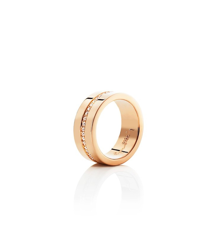 Efva Attling - Wide & Stars - $4,210. Gold or white gold ring with diamonds set around the band.