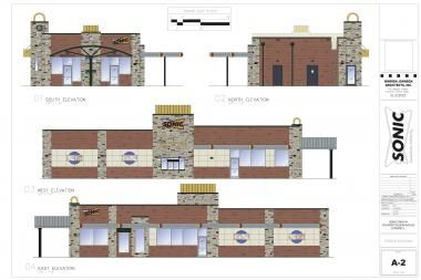 Renderings of the Sonic Drive-In planned in Uptown, which will be Chicago's first Sonic location.
