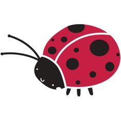 """- measures 6.5""""w x 4""""h - 2-piece ladybug stencil - self-adhesive ladybug wall stencil - stick and paint - individual stencil from full-room Bugs and Blossoms Wall Mural Stencil Kit Full Description Ad"""