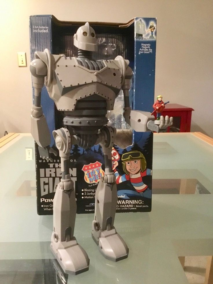 "1999 The IRON GIANT 12"" Power Hero & Hogarth Figure by TRENDMASTERS | eBay"