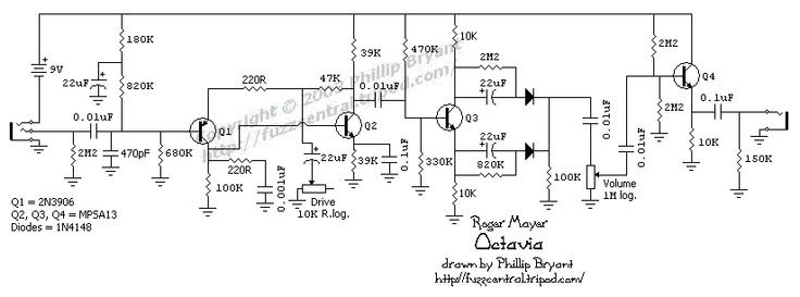fuzz pedal circuit