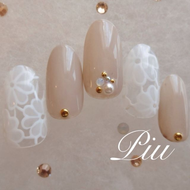 ネイル 画像 Nail Salon Piu 新越谷 598121 Lovely for weffing nails